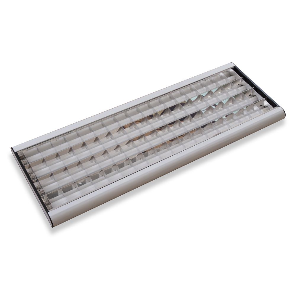 <p>Category: INDOOR</p><br/><h1>TCS605 Decorative (Surface Mounted)</h1><br/><p>Light Source:&nbsp; 4x LEDtube (120cm OR 150cm) OR fluorescent T8/T5 lamps<br><br>Lamp Power:&nbsp; LEDtube (16W OR 25W)<br><br>CRI: &gt;80,&nbsp;&nbsp;&nbsp;&nbsp; PF:&nbsp;&nbsp; &gt;90<br><br>Voltage:&nbsp;&nbsp; 100-240VAC<br><br>Protection Degree: IP20<br><br>Body Material: White Stove-enamelled sheet steel<br><br>Diffuser: Shine mirror with striped lamellae&nbsp;&nbsp;&nbsp; OR&nbsp;&nbsp;&nbsp;&nbsp; Opal&nbsp;&nbsp;&nbsp; OR&nbsp;&nbsp;&nbsp;&nbsp;&nbsp; Prismatic<br><br>Size: 1250x460mm (for 4xLEDtubes 120cm)<br><br>Item Type: Surface Mounted</p>